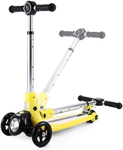 Giow Kinderroller, Vierr iges fürrad, Zusammenklappbar, Mit Scheinwerfern, Bremsen