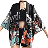 Women Japanese Kimono Cardigan Coat Yukata Outwear Tops Vintage Japanese Style (# 1)