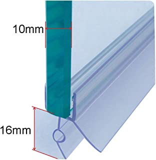 393 Inch Shower Door Bottom Seal,House and Glass Shower Door Seal Strip for Side of Door,Glass Door Seal Strip to Stop Shower Leaks 35mm, High Transparency Stops
