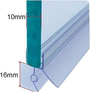 Cozylkx Frameless Shower Door Bottom Seal with Drip Rail 3/8