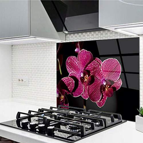 Horno para la cocina protector contra salpicaduras resistente al calor decoración guardia trasera proteger proteccion mural panel rasguño resistir Talla: 60x52cm-No:210