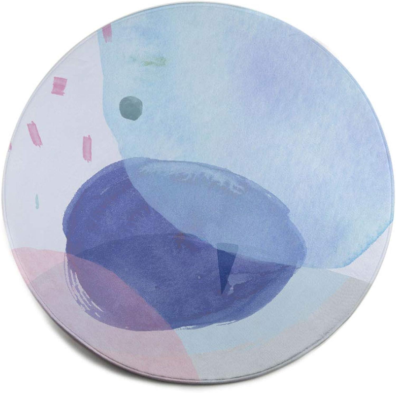 Obtén lo ultimo ZXW ZXW ZXW Alfombra- Resumen Ronda Alfombra Alfombra Sala de Estar Mesa de café Manta Dormitorio Cama Corta Estera 2 Colors 3 Tamaos (Color   B, Tamao   100cm100cm)  grandes ahorros