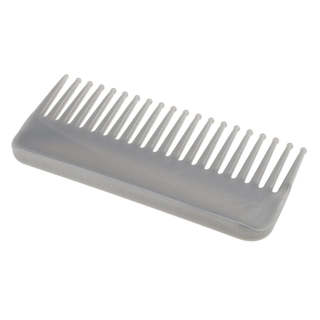 債務反発連邦CUTICATE プラスチック製の絡みのない広い歯のヘアブラシサロンヘアケアマッサージツール