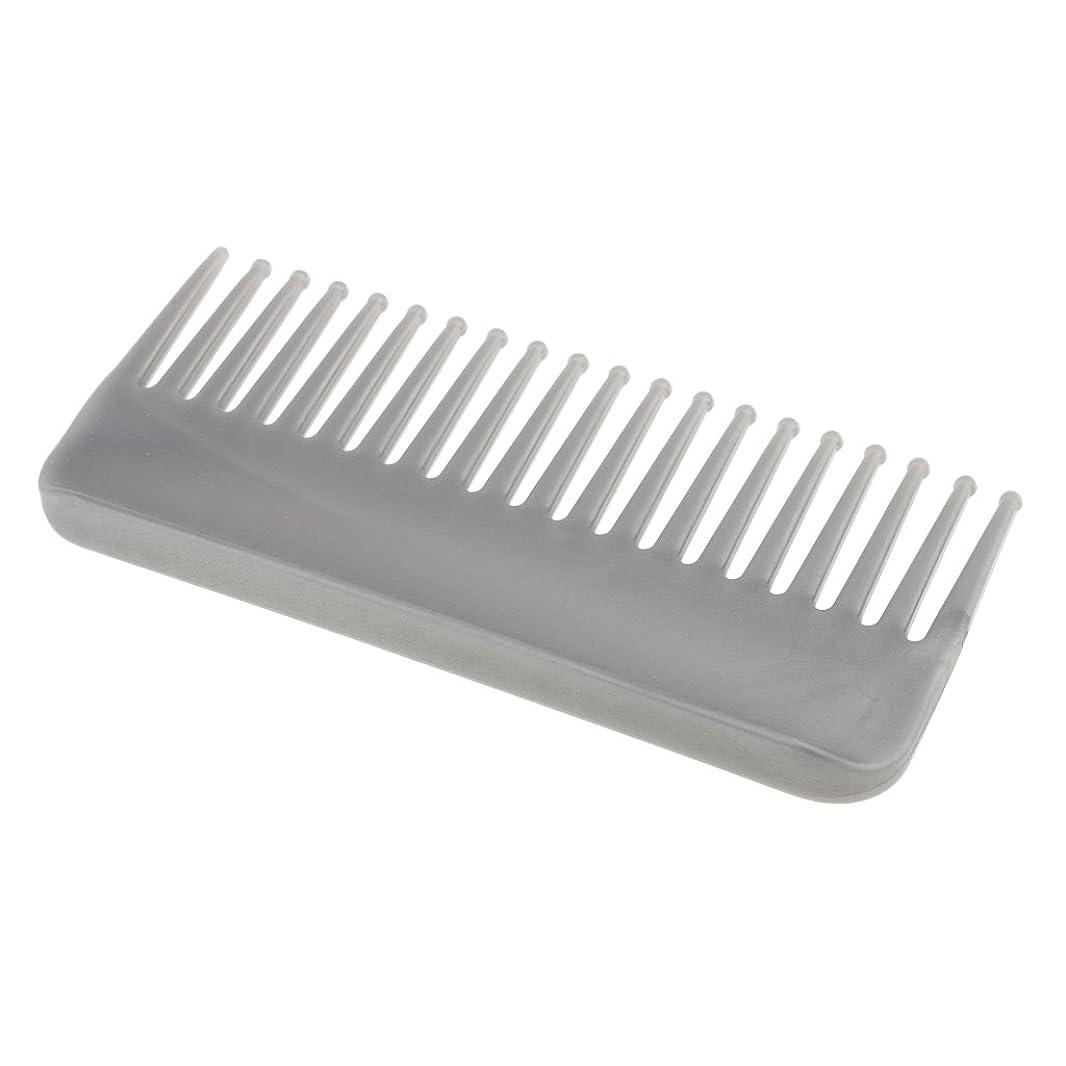 教育するありがたいそのCUTICATE プラスチック製の絡みのない広い歯のヘアブラシサロンヘアケアマッサージツール