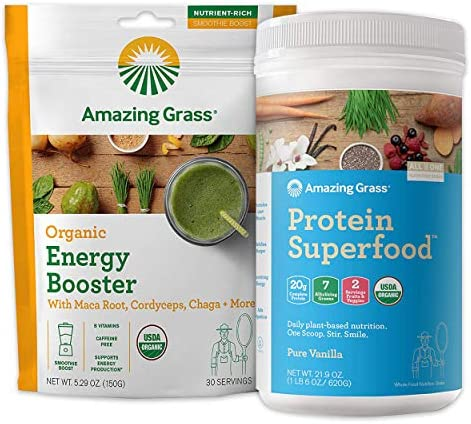 Amazing Grass Protein Superfood Collagen Booster Bundle Protein Superfood Powder Pure Vanilla product image