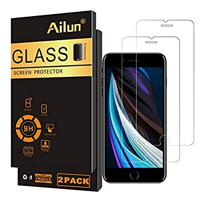 Ailun Screen Protector Compatible for iPhone SE 2020 new iPhone SE 2Pack 0.33mm Tempered Glass from Siania