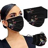 Gpure 50PC Adulto Mujer Bonitas Mariposa de Dibujos Negras Filtros de Alta Densidad 2020 Industrial Bufanda (B)