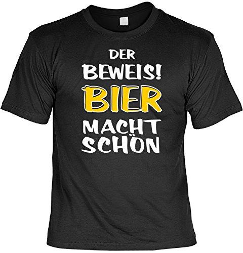 Trink-Spaß/Fun-Shirt/Rubrik lustige Sprüche: Der Beweis! Bier Macht schön geniales Geschenk