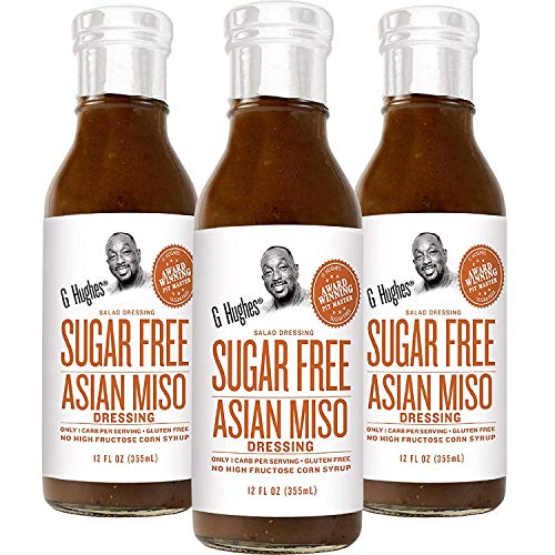 G Hughes Sugar Free Asian Miso Dressing (3 Pack) | Miso Salad Dressing