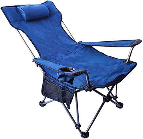 BBQ Tabouret Pliant Campement Prolongé Siège De Camping Jardin De Pêche En Aluminium Camping Léger Chaise Camping Pliant E-Maillée,bleu