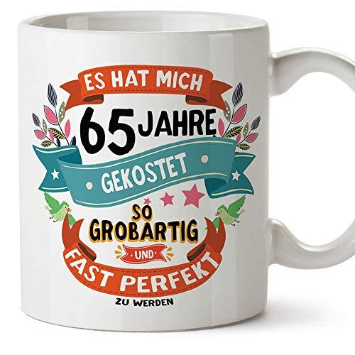 Mugffins Geburtstagstasse 65 Jahre Alt - Becher/Mug als Geschenk zum Geburtstag/Jubiläum - Keramik 350 mL