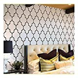 Wall Stencil Marrakech Trellis - Large Stencils for Painting Walls – Try Stencils Instead of Wallpaper – Modern Stencils for Wall Painting – Stencil Designs for DIY Home Décor – Best Stencils