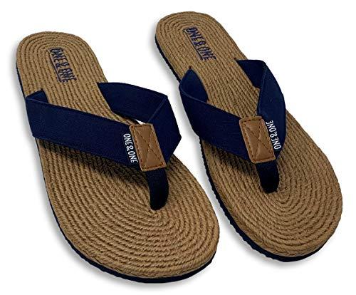 Sandalia De Playa para Hombre Simil Esparto, Talla 45-46