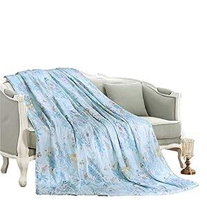 KKAI Coverlet Bedspread Summer Quilt 100% Pure Silk Blanket Reversible Soft Microfiber Lightweight All Season Flower Deer Print