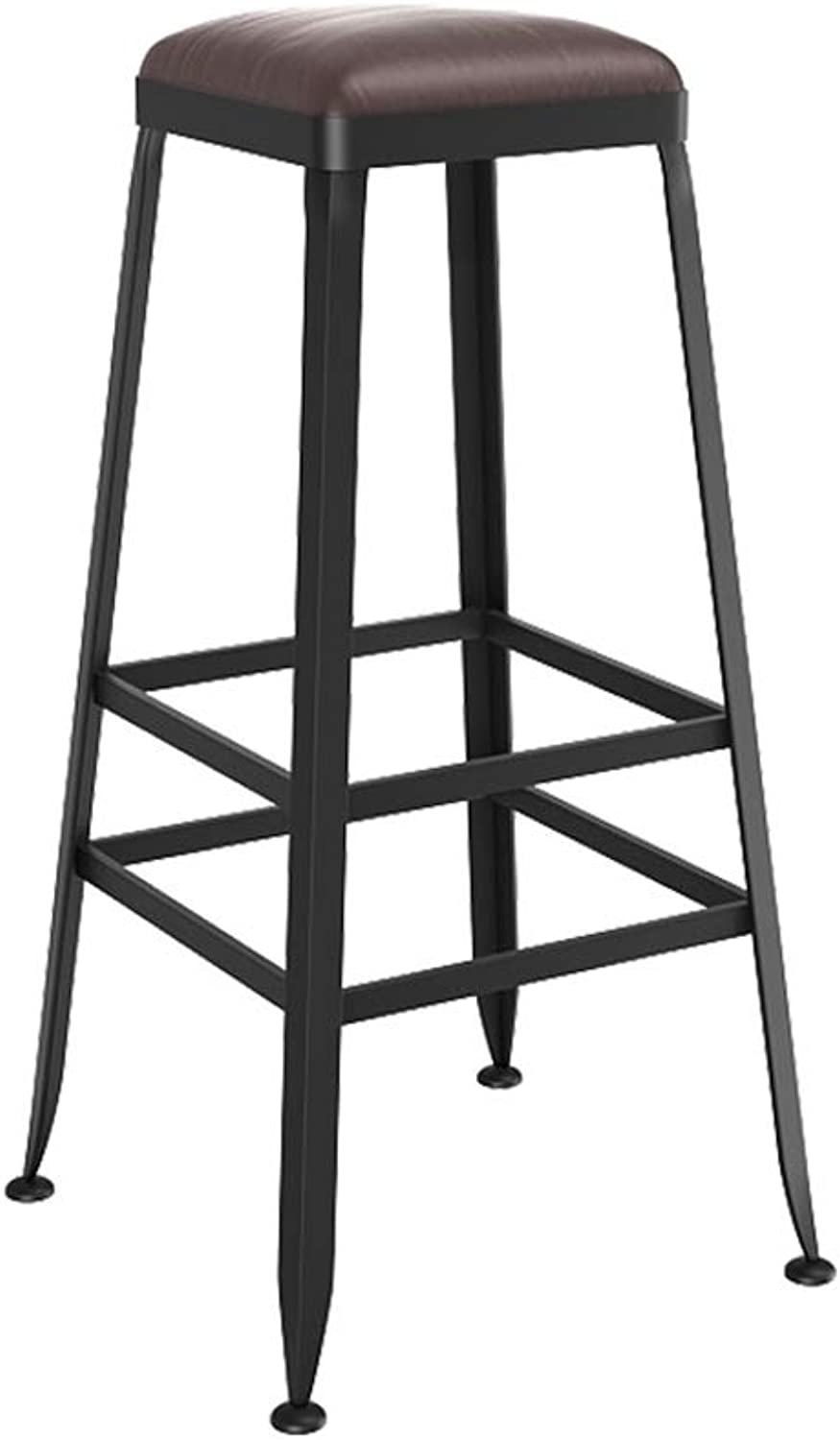 YJXJJD Vintage Style Wrought Iron Bar Stool Bar Stool Can Be Used for Kitchen Restaurant Counter Bar Chair (Size   70CM)