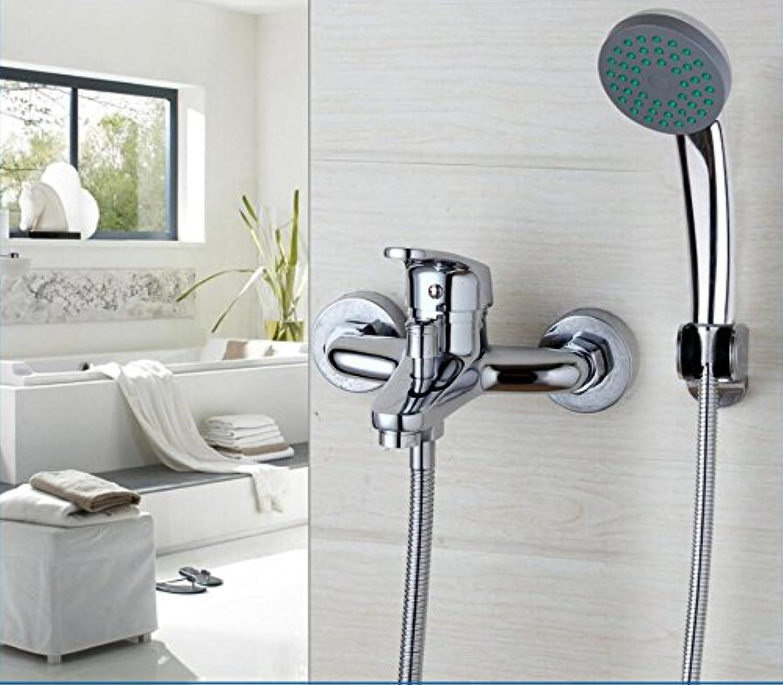 Makej Bathtub Faucet Shower Sets Wall Mounted Chrome Finished Shower Handheld Driver Bathroom Sink Brass Mixer Tap Sets