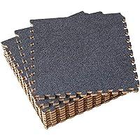 UMI. Essentials - Losas de Goma entrelazadas de 30 X 30 cm (Gris Oscuro)