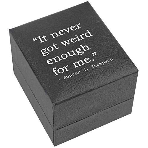 Azeeda Quote by Hunter S. Thompson Verlobungsringbox (RB00000283)