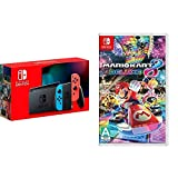 Nintendo Switch with Neon Blue and Neon Red Joy‑Con -...