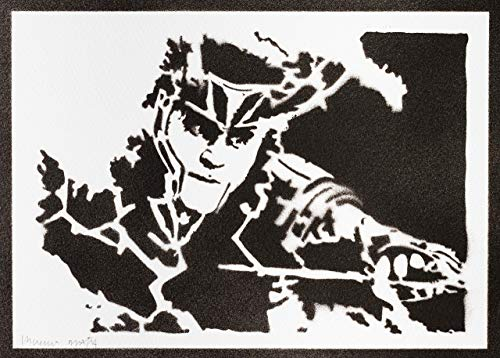 Loki Poster The Avengers Plakat Handmade Graffiti Street Art - Artwork