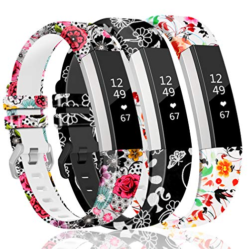 ZEROFIRE Band Compatible with Fitbit Alta and Alta HR Replacement Wristband Adjustable Silicone Sports Watch Band for Men Women Colorfl Printing Straps, Standard Size for 5.5