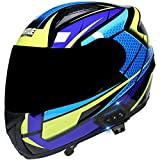 ZLYJ Bluetooth Cascos Modulares Motocicleta, Cascos Integral