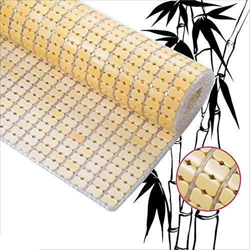 GUORRUI-Sommer-Schlafmatten Bambus Matratzen Glatt Cool Wasseraufnahme Konstante Temperatur Falten Einzel Oder Doppel Keine Grate 2 Farben (Color : A, Size : 0.9x1.9m)