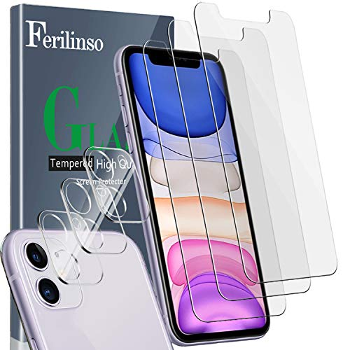Ferilinso [6 Pack] 3 Piezas Protector de Pantalla para iPhone 11 Cristal...