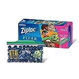 Ziploc Snack Bags, Easy Open Tabs, 66 Count, Featuring Pixar Designs