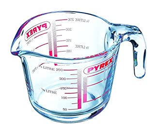Pyrex GLSMJ1/2PT Glass Measuring Jug, 250 ml - Clear (B0001IW4P0)   Amazon price tracker / tracking, Amazon price history charts, Amazon price watches, Amazon price drop alerts
