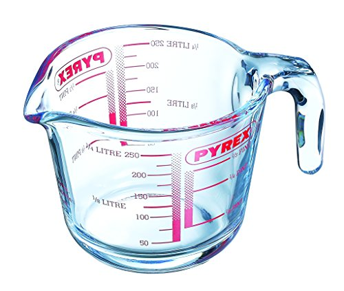 Pyrex GLSMJ1/2PT Glass Measuring Jug, 250 ml - Clear