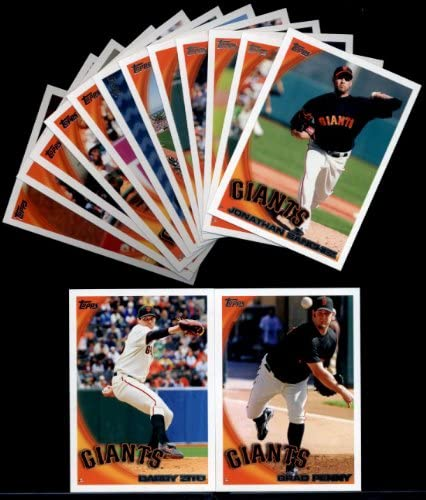 HOT 2010 Topps Baseball Cards Complete TEAM SET San Francisco Giants Series 1 2 23 Cards including product image