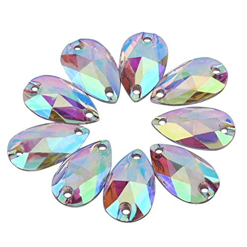 Collar precioso para la cabeza con diamantes de imitación cosidos en la espalda(AB color)
