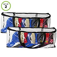 Evelots Sport Hat/Cap Storage Bag-Baseball-Handles-No Dust/Moisture-15 Hat-Set/2