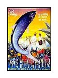 Wee Blue Coo Travel Sport Angling Fishing Veracruz Mexico Flowers Impresión del Arte 12 x 16 Pulgadas