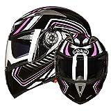 Casco per moto antiappannamento Casco per adulto con doppia lente Flip Up Caschi per moto Outdoor Uomo Donna Cappellino integrale Motocross Accessori da strada in montagna