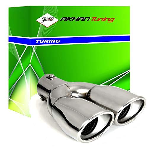 Akhan ATER098 ER098 - Auspuffblende Endrohr Edelstahl poliert Sport-Sound D30-52 mm