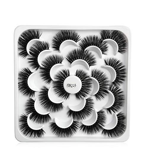 10 Pairs Mascara Extension Panacée Long Artisanal Mascara watervish Nature Faux cil Mixed style(5DAZ23)