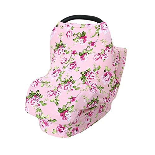Baby multifunktionales Pflegetuch, Kinderwagenbezug 4 in einem Anti-Leer-Pflegetuch, Baby elastisches Stillen Stillen Mehrzweck für Autositz Baldachin, Kinderwagen