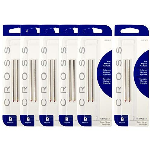 クロス CROSS ボールペン 替え芯 替芯 リフィル 油性 テックスリー用 M 中字 レッド 6パック (12本入り) 8518-5
