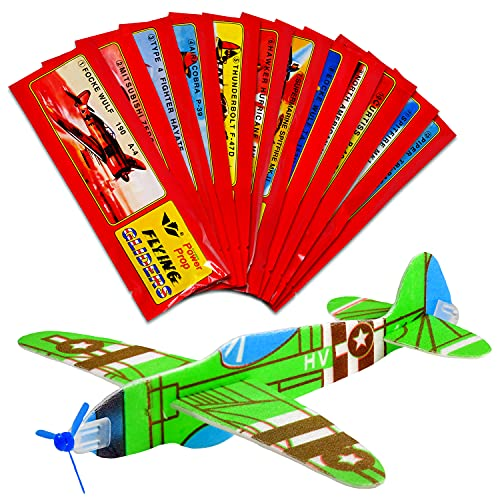 12x Styroporflieger | Set aus gemischten einzeln verpackten Gleitflugzeugen | Styroporgleiter Gleiter Flieger Wurfgleiter | perfekt als Mitgebsel Mitbringsel Give aways für den Kindergeburtstag