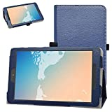 Bige for TCL Tab 8 Inch Tablet Case,PU Leather Folio 2-Folding Stand Cover for 8' Verison Alcatel TCL Tab 8 (Model TCL 9038s) Tablet,Dark Blue
