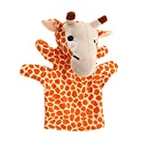 T TOOYFUL Kinder Niedlichen Tier Fingerpuppen Plüschtuch Puppe Entwicklung Baby Handspielzeug - Giraffe