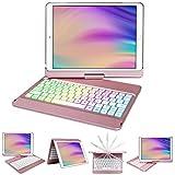 10.2 inch iPad Case with Keybaord,iPad 8th Generation Keyboard case 2020&iPad 7th Gen,10 Color Backlit-360 Rotatable-BT 5.0 Keyboard Case for iPad 8th/7th,Auto Sleep/Wake Case iPad 8 Keyboard