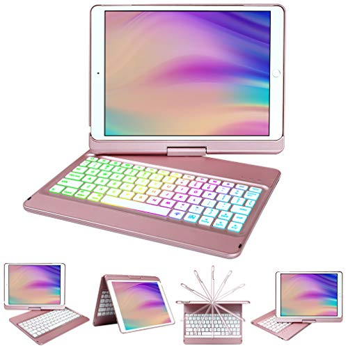 10.2 inch iPad Case with Keyboard,Keyboard Case for iPad 8th Generation&iPad 7th Gen,10 Color...