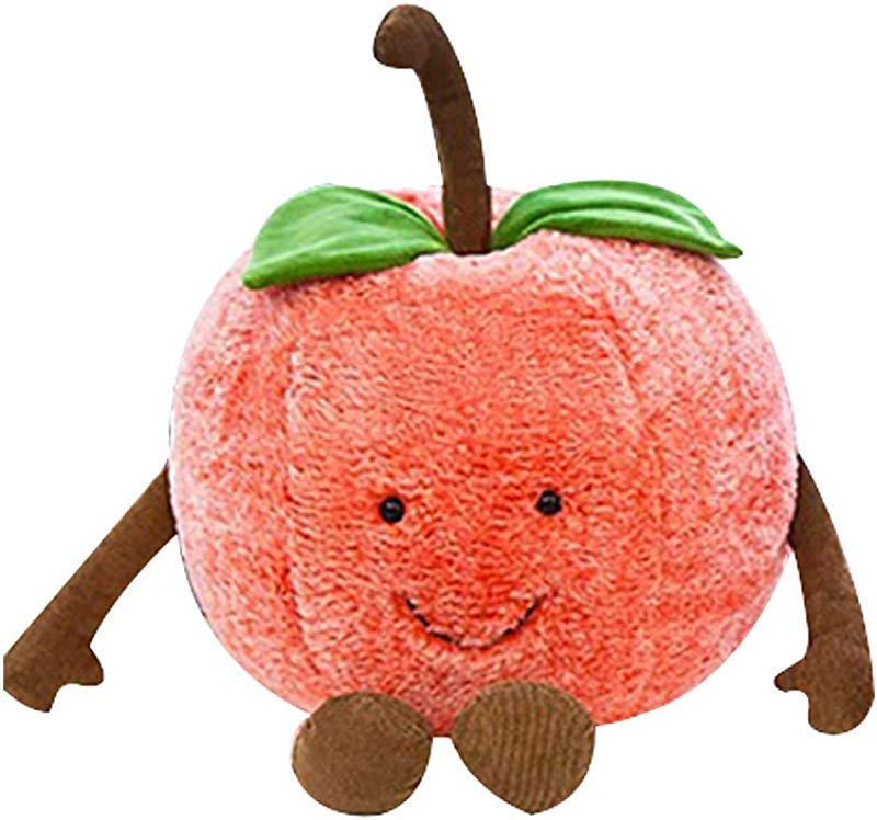 YanQxIzbiu Plush Toy For Girls Kids Creative Plush Emoji Cherry Watermelon Fruit Doll Throw Pillow Sofa Decor Gift S Cherry
