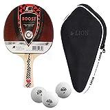 Sunflex Boost Raquette de tennis de table + housse de tennis de table + 3 balles ITTF SX + balles de tennis de table
