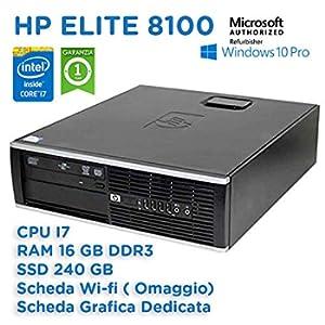 +++ HP Elite 8100 SFF INTEL QUAD CORE I7-860 2,80Ghz 16gb 240 gb ssd wifi (RICONDIZIONATO CERTIFICATO)+++