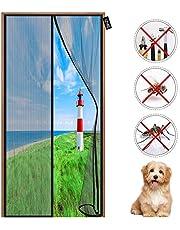 Verbeterde magnetische schermdeur - met magneten Heavy Duty gaasgordijn - Eenvoudig te installeren Geen gereedschap nodig - Honden Huisdiervriendelijk deurscherm 90 x 195 cm Zwart