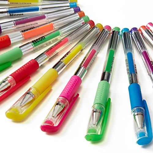 Mattel Write Dudes Scribble Stuff 24 Gel Pen Value Pack Assorted Colors/Styles (CYH60) Photo #2